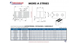 Mors à stries adaptable pour mandrin autostrong