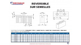 Reversible sur semelles pour mandrins Forkardt type f/Gamet delta/Gamet mx/Rohm duro/Smw kncs